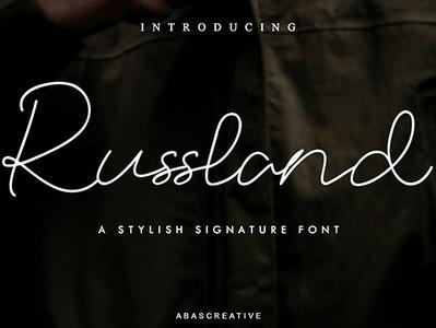 Russland Signature Script signature signature font hand lettering handwriting handmade handwritten logo typography script lettering script font stylish branding design typeface fonts font casual design branding
