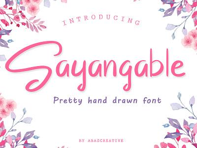 Sayangable Hand drawn Font invitations wedding hand drawn typeface typography stylish logo handwritten handwriting handmade hand lettering font fonts casual design branding design branding