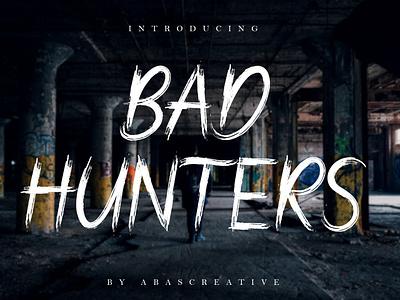 Bad Hunters BRUSH FONT font design free font hand made brush font brush handwritten handwriting illustration hand lettering fonts font design casual branding design branding
