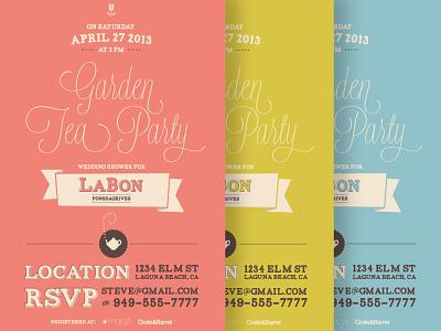 Wedding Shower Tea Party Invites tea party invite invitation color teapot rsvp options typography script shower wedding