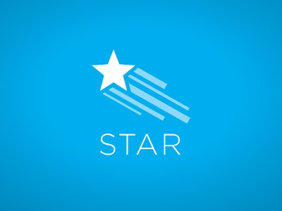 Star Logo 1 logo mark star space branding icon identity prototype blue comet shooting star color
