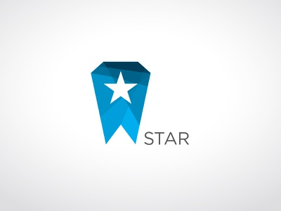 Star Logo 2 logo mark star space branding icon identity prototype blue polygon angular color