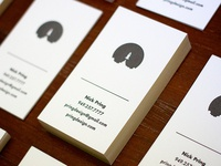 Rocket Letterpress Business Cards