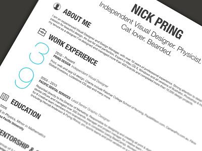 My Resume 2 resume cv blue icons ios 7 print infographic skills hobbies graph