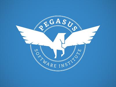Pegasus Final Logo logo seal pegasus horse wings serif mark branding icon