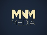 MNM Media Final Logo icon branding mark typography logo 3d