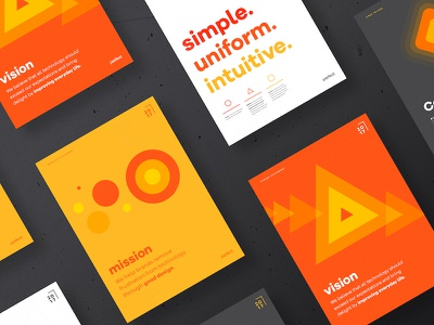 Perfect 'Guiding Principles' Poster Series refresh rebrand geometric shapes typography colorful principles abstract orange poster posters perfect