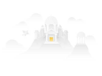 Mount Olympus mythical olympus digital google mythology illustrator vector art illustration