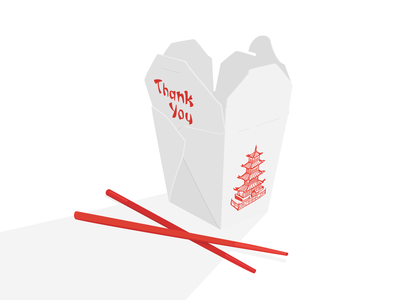 Takeaway graphic takeaway chinese vector food illustration digital art