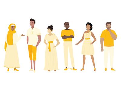 Google's Olympus Academy Characters google mythical goddesses gods olympus character illustration digital art