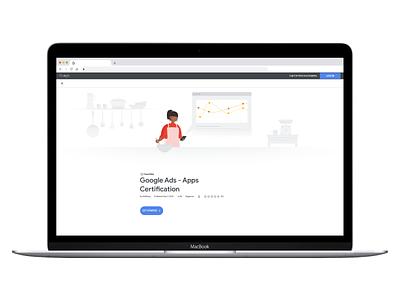 Google Skillshop Hero Image design digital data character baking vector illustration google