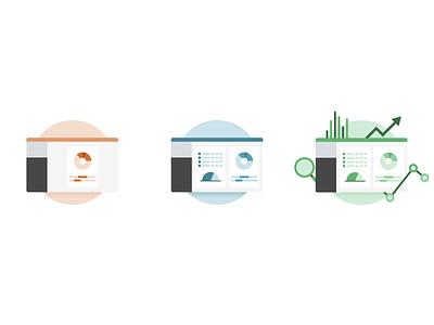 Dexibit Pricing Plan Icons icons ui design icon set tier payment plan data vector art illustration digital
