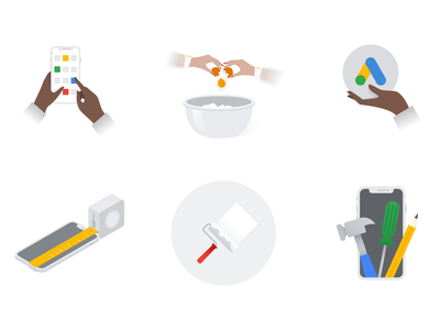 Google Skillshop Illustrations icons google vector art illustration digital