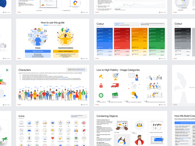 Google Skillshop Style Guide branding ui colours layout identity brand guidelines slides deck design google illustration digital
