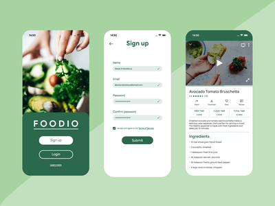 Daily UI Challenge #001 | Sign Up Page recipe food dailyuichallenge ui ux design app