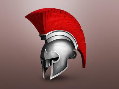 Spartan Helmet helmet sports icon medal badge roman spartan illustration