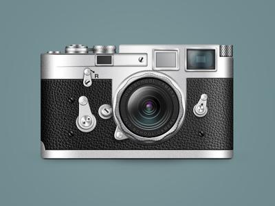 Leica Camera illustration icon old school camera leica