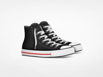 Classic Kicks illustration icon converse shoes kicks