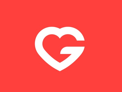 Getlocal Logo symbol icon logo like getlocal local tourism red g heart love travelling