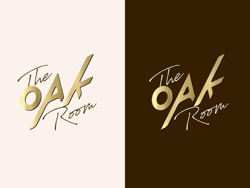 The OAK Room logo illustration design branding