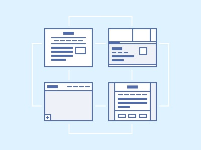 Themes theme icons layout structure web site stroke lines
