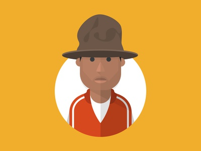 Pharrell pharrell illustration yellow red brown circle shapes
