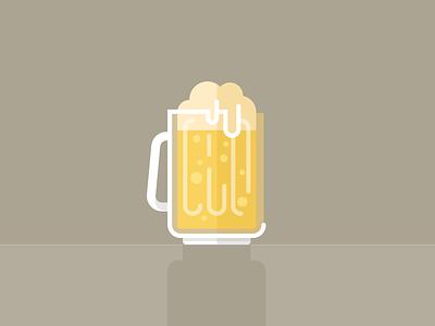 Brewski beer icon illustration yellow brown white