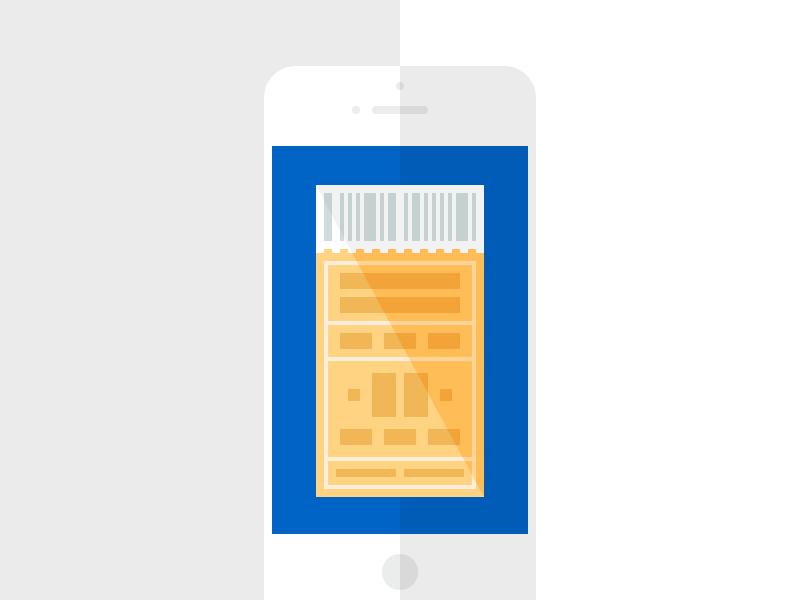 Checkout seatgeek checkout ticket mobile illustration blue yellow