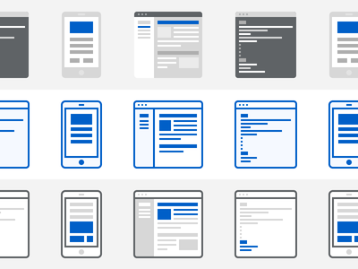 Options icons mobile website command window illustration