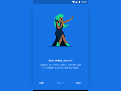 Android Onboarding seatgeek tickets sports concerts music illustration onboard android