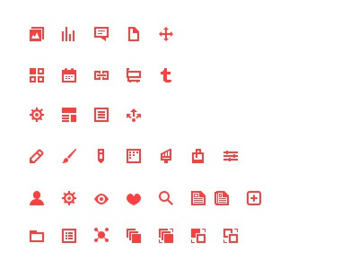Unused icons icons stoke pixel red color symbol simple website images