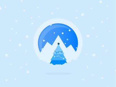 Xplenty logo for Holidays holidays illustration tree christmas snow snowglobe winter xplenty