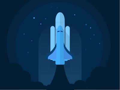 spaceship launch rocket smoke space moon spaceship night