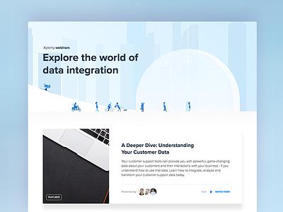 Xplenty Webinars Page webinar layout illustration ux ui web design