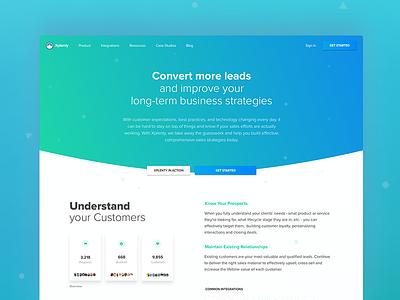 Sales Solution Landing Page sales product integration solution webinar layout illustration ux ui web design