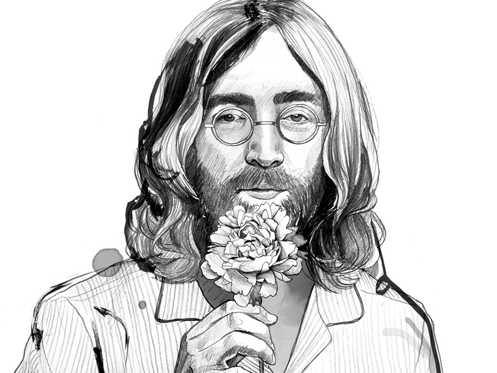 John Lennon By Ina Stanimirova On Dribbble