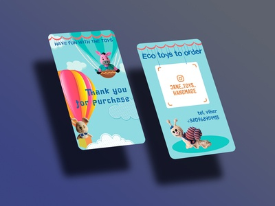 Toy store business card
