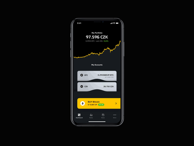Bitstock interaction ios app realproject iphoneapp dark crypto ui ios microinteraction interaction design bitcoin cryptocurrency crypto wallet dashboard concept animation