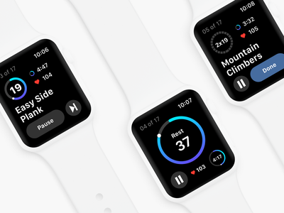 Fitify apple watch userinterface app realproject productdesign app design ios watchos fitness app fitness workout fitify ui applewatch