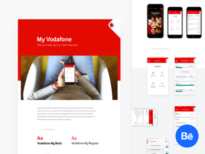 My Vodafone Case study uidesign ui ux mobileapp iosdesign appdesign app ios myvodafone vodafone behance casestudy