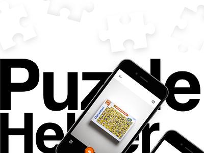 PuzzleHelper concept  simple puzzlehelper puzzle minimal iosapp ios concept casestudy behance