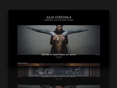 Julia Chochola - portfolio concept ui ux minimal clean black dark artist microsite concept portfolio