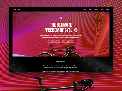 Festka official redesign redesign interface ui ux website cyclist bike festka homepage bicycle
