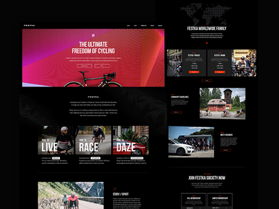 Festka redesign webdesign festka ux ui product page ecommerce interface cycling bikes