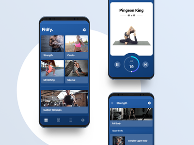 Fitify beta version gym workout ui ux material android mobileapp fitness workouts