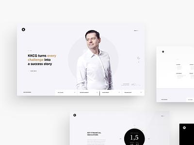 KKCG - official website uxdesign kkcg art direction design webdesign web typography simple minimalistic interface landingpage homepage interaction ux website