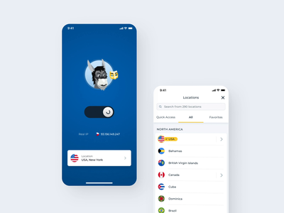 HMA VPN redesign illustraion ux  ui realproduct product design clean hma hidemyass motion connecting animation iosapp dashboard vpnapp vpn