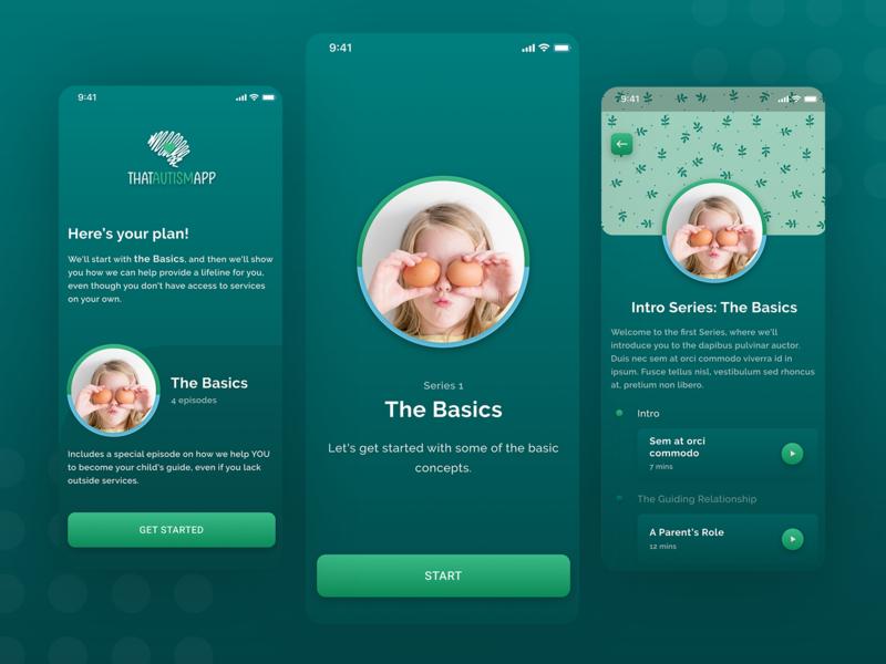 App for Autism Children figma premium children autism elegant minimalism ios mobile ui best of dribbble illustration branding minimal ui uiux