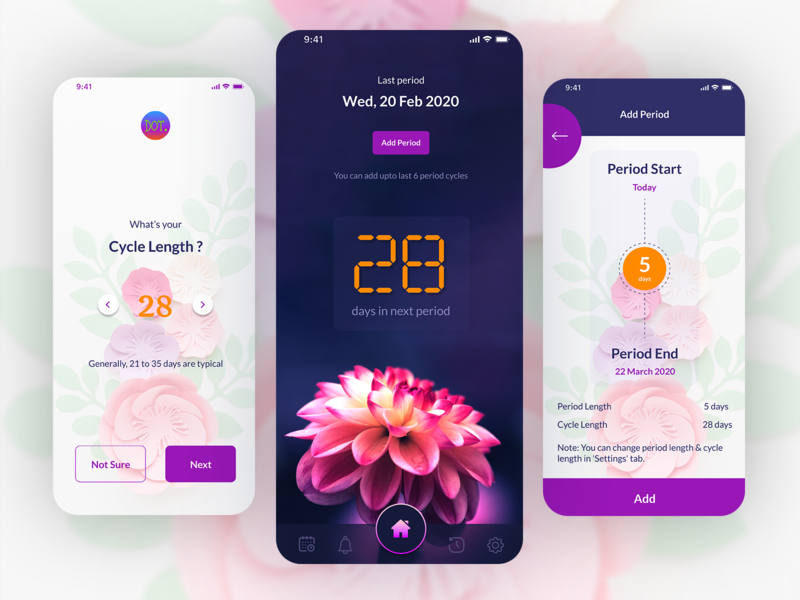 DOTS: Period Tracker App mobile app mobile ui ios app design notification period tracker period easy management best illustration design minimalism best of dribbble ios figma ui uiux