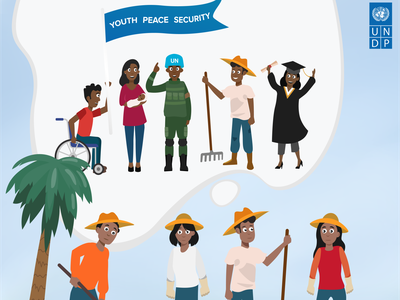 """Rural Youth & Political Participation"" UNDP Solomon Islands poster design united nations undp graphicdesign characterdesign poster vector art design illustration artwork digitalart"